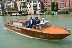 Hybrid taxi boat in Venice