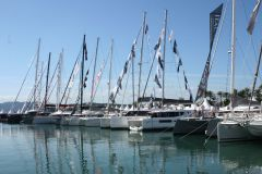 Multihulls in Port Canto at the Cannes Yachting Festival 2019
