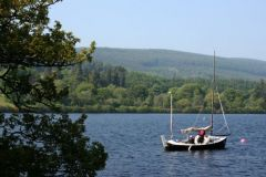Sailboat on the Caledonian Canal