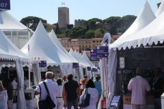 Equipment manufacturers' alley at the Cannes Yachting Festival