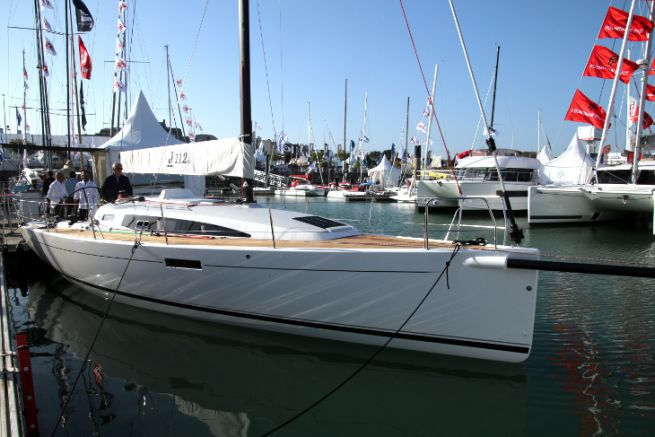 J112 E, the cruising version of the yacht J Composites, exhibited at the Grand Pavois