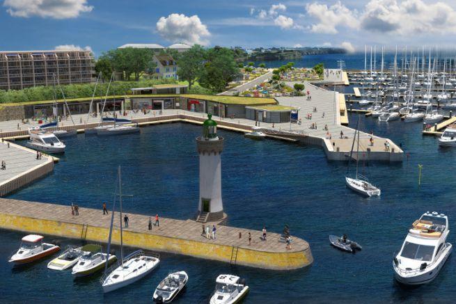Future floating basin of Port Haliguen