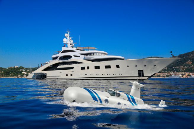 The Neyk Submarine, a private underwater toy for superyachts
