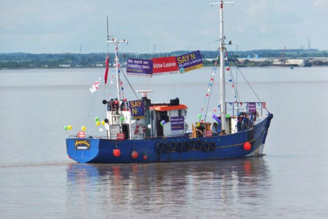 Protest boat for the Brexit
