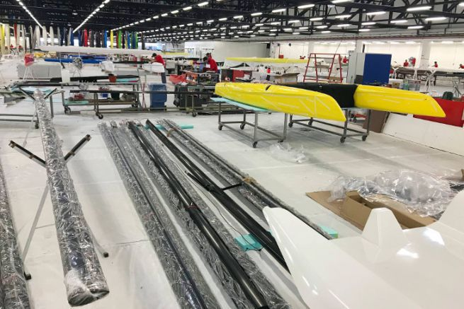 Production plant for iFLY Sail hydrofoil catamarans