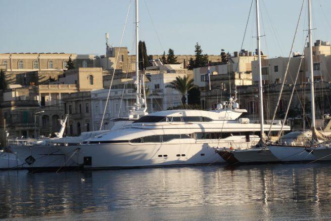 Yacht in Malta