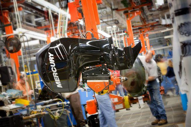 Outboard engine production at Mercury Marine's Fond du Lac plant