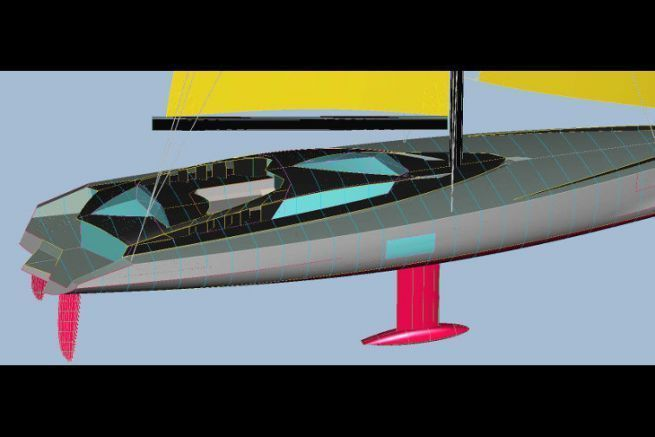 South Sea charter yacht project designed by naval architect Luc Bouvet