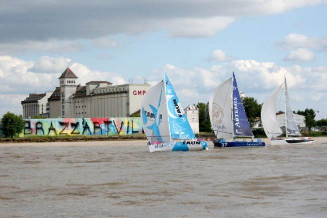 Start of the Solitaire du Figaro 2015