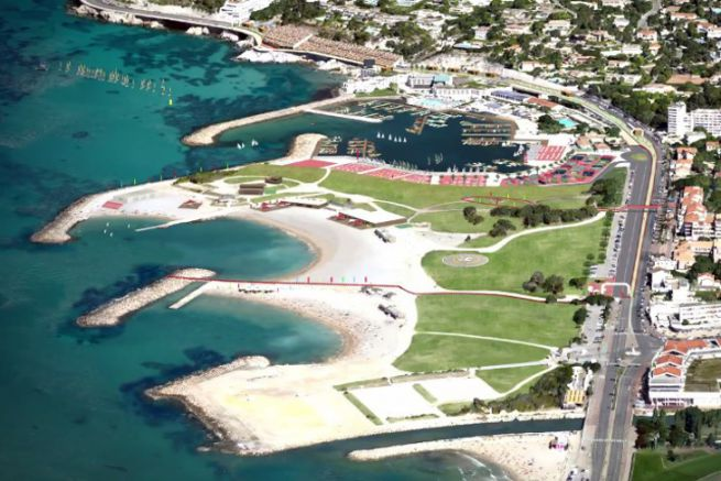 Olympic Marina of Roucas Blanc in Marseille for the 2024 Olympic Games