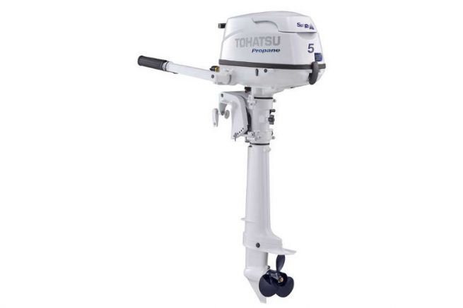 Tohatsu 5 HP LPG outboard