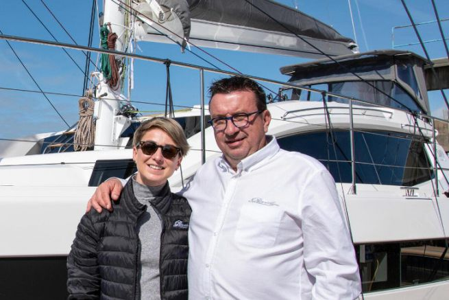 Anna Nowotarska, new export sales manager with Gilles Wagner, CEO of Privilège Marine