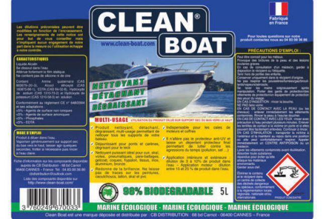 New Clean Boat label