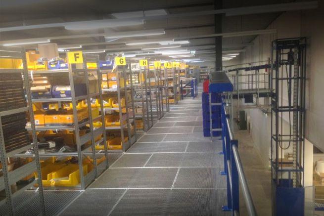 Warehouse of the German distributor Bukh Bremen
