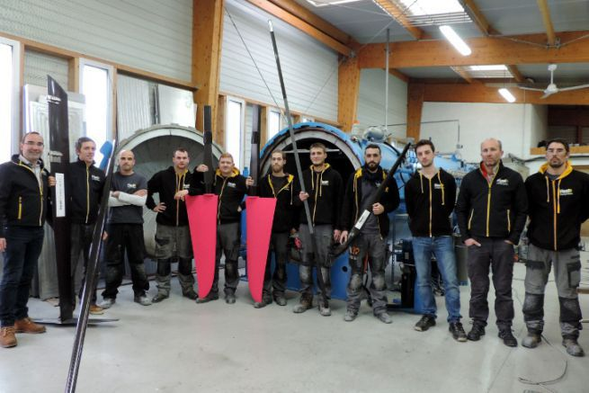 The Heol Composites team in front of the autoclave
