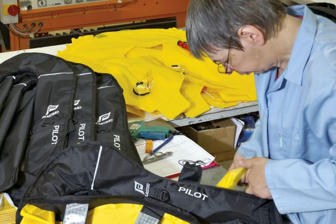 Manufacture of Plastimo vests