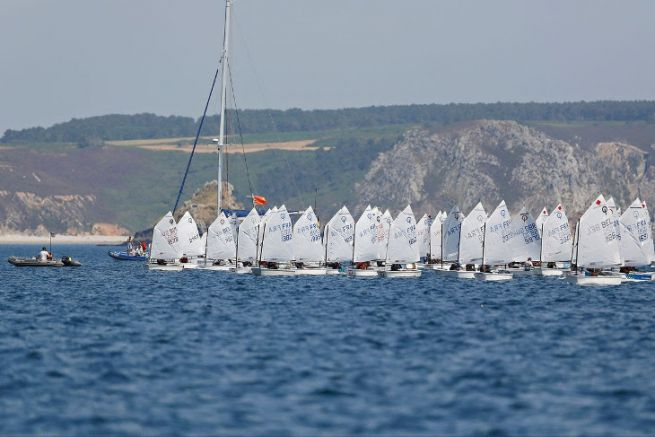 International Summer Cup in Optimist at Crozon-Morgat