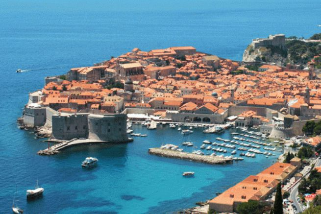 The port of Dubrovnik in Croatia, flagship destination for cruises in 2017
