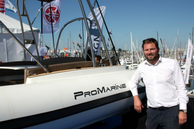 Damien Harlé, manager of the Pro Marine semi-rigid boats