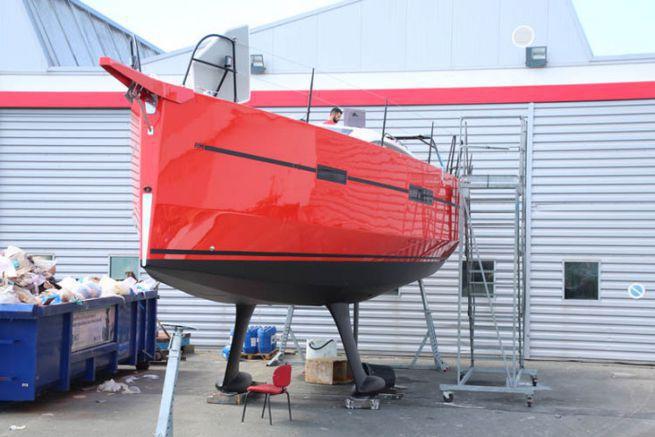 RM Sailboat under construction