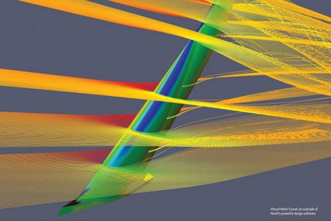 Aerodynamic study by North Sails