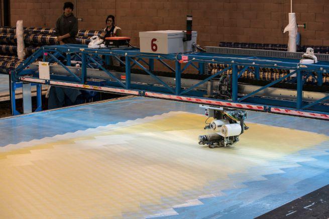 3Di sail preparation at the North Sails loft in Minden