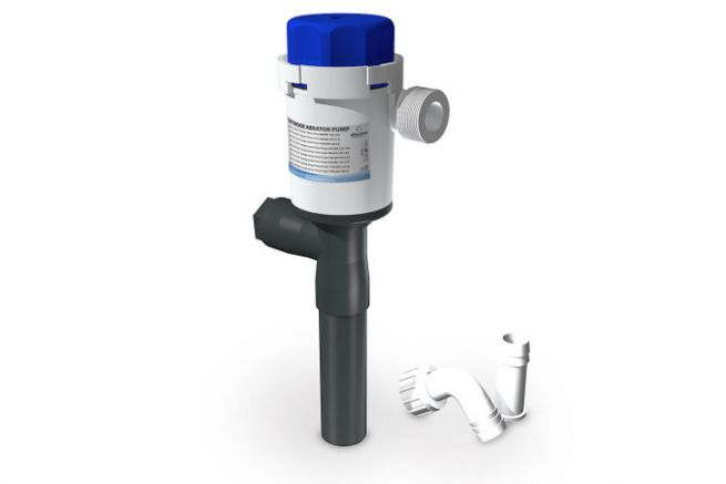 Bilge pump with Albin Pump Marine nozzle