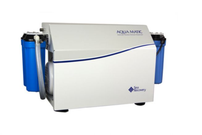 Sea Recovery AquaMatic watermaker, distributed by the Hydrotechnical Company