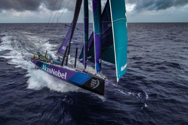 Akzo Nobel Team on the Volvo Ocean Race
