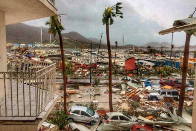 Saint-Martin after the passage of cyclone Irma