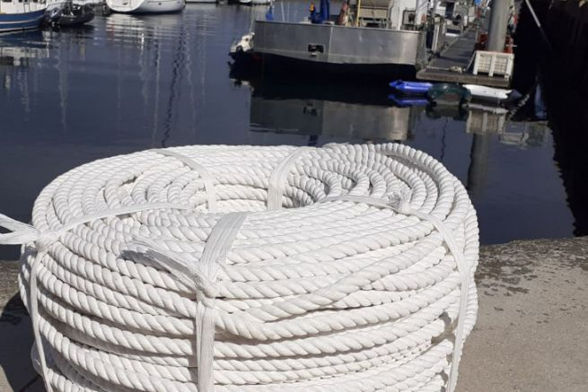 Biorope compostable rope reel developed by Intermas