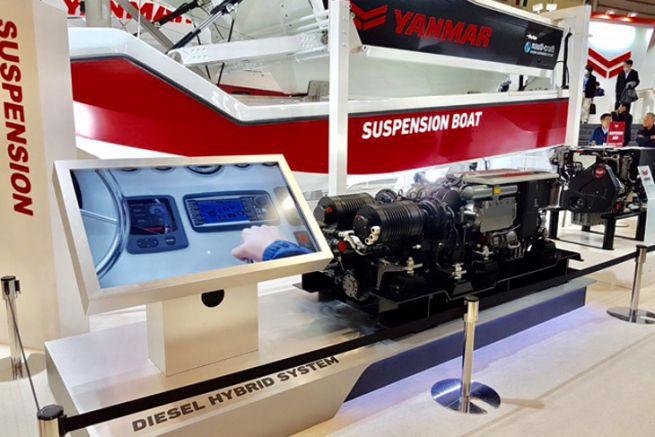 Yanmar marine hybrid engine presentation - Transfluid in Yokohama